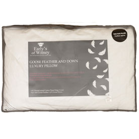 Goose Feather and Down Pillows Pair