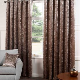 Plush Ready Made Lined Eyelet Curtains