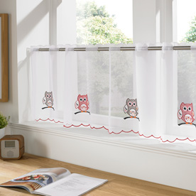 Owls Cafe Curtain Panel