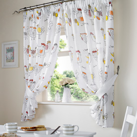 Chickens Kitchen Curtains