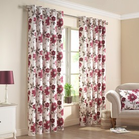 Renoir Ready Made Eyelet Lined Curtains