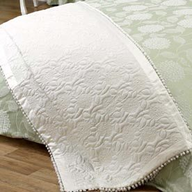 Julian Charles Hydrangea Quilted Throw
