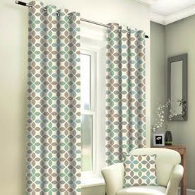 Tangiers Ready Made Lined Eyelet Curtains