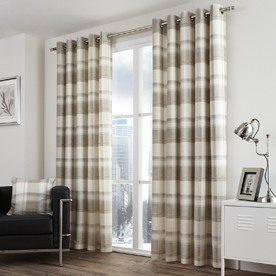 Balmoral Check Ready Made Eyelet Lined Curtains