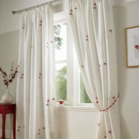 Butterfly Ready Made Lined Voile Curtains