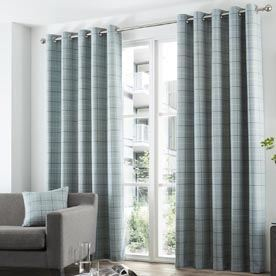 Braemar Check Readymade Eyelet Lined Curtains