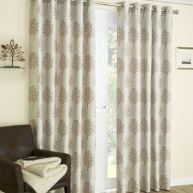 Mulberry Ready Made Interlined Eyelet Curtains