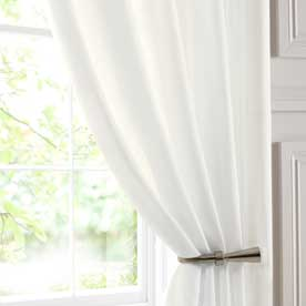 Chatsworth Double Width Voile Curtain Panel