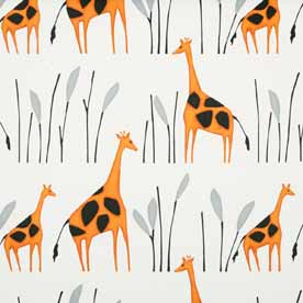 Geoffrey Giraffe Curtain Fabric