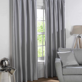Sophia Ready Made Faux Silk Blackout Curtains