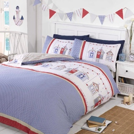 Beach Huts Bedding
