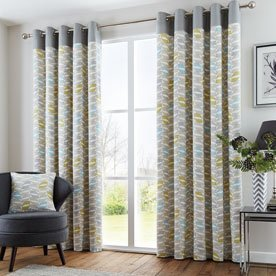 Copeland Ready Made Eyelet Lined Curtains