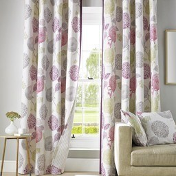 Avril Ready Made Lined Eyelet Curtains