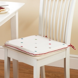 Dotty Embroidered Seat Pad
