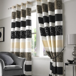 Grosvenor Organza Lined Eyelet Curtains