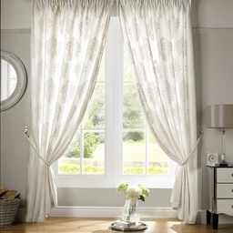 Velvet Voile Ready Made Lined Curtains