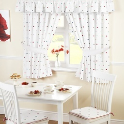 Dotty Embroidered Kitchens Curtains