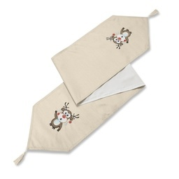 Rudolph Embroidered Christmas Table Runner