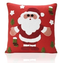 Santa Tapestry Towelling Christmas Filled Cushion