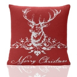 Stag Tapestry Christmas Filled Cushion