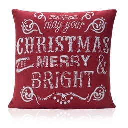Bright Tapestry Christmas Filled Cushion
