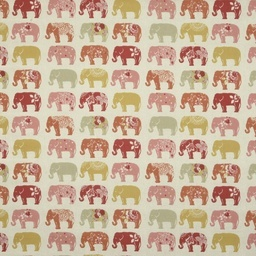 Elephants Curtain Fabric