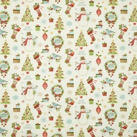Christmas Mix Curtain Fabric