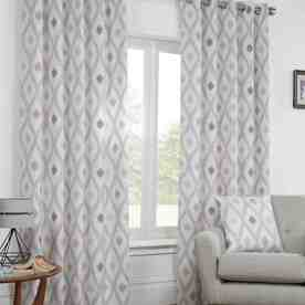 Bordeaux Ready Made Lined Eyelet Curtains