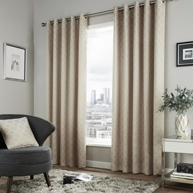 Denby Ready Made Lined Eyelet Curtains