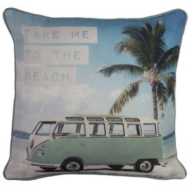 Volkswagen Take Me To The Beach Filled Cushion