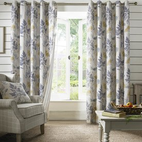Sycamore Ready Made Lined Eyelet Curtains