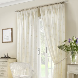 Seville Ready Made Lined Voile Curtains