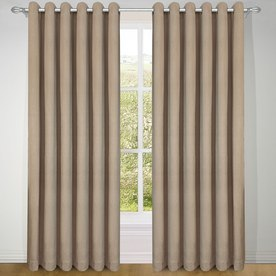 Treebark Blackout Ready Made Eyelet Curtains