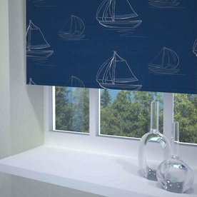 Boats Ready Made Daylight Roller Blind