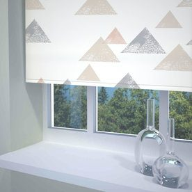 Textured Triangle Ready Made Blackout Roller Blind