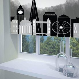 London Skyline Ready Made Blackout Roller Blind