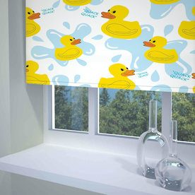 Quack Quack Ready Made Blackout Roller Blind