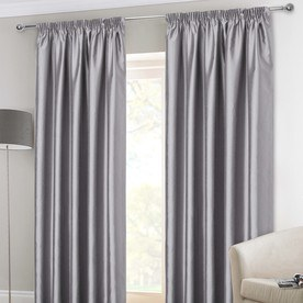 Faux Silk Ready Made Lined Curtains