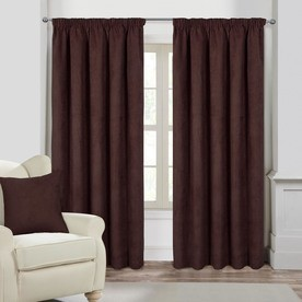 Faux Suede Ready Made Lined Curtains