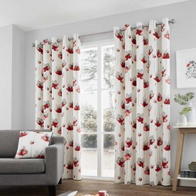Kiera Ready Made Lined Eyelet Curtains