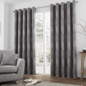 Elmwood Ready Made Lined Eyelet Curtains