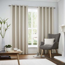 Navo Ready Made Lined Eyelet Curtains