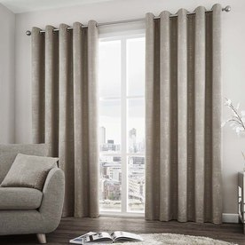 Solent Ready Made Lined Eyelet Curtains