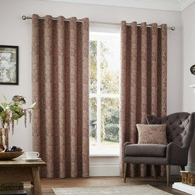 Whitcliffe Luxury Ready Made Lined Eyelet Curtains
