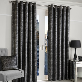 Glimmer Ready Made Lined Eyelet Curtains