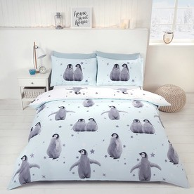 Starry Penguins Bedding Set