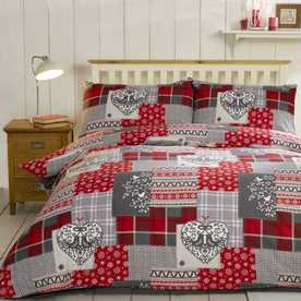 Alpine Patchwork Brushed Cotton Bedding Set
