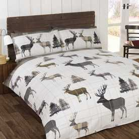 Stag Brushed Cotton Bedding Set