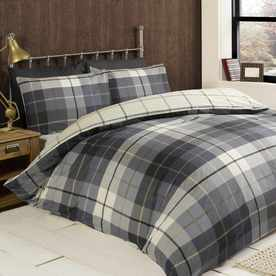 Lomond Check Brushed Cotton Bedding Set