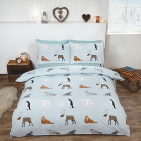 Winter Animals Brushed Cotton Bedding Set